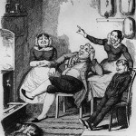 One of George Cruikshank's chariacture's of the servant class.