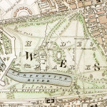 """Hyde Park section of """"Improved map of London for 1833, from Actual Survey. Engraved by W. Schmollinger, 27 Goswell Terrace"""""""