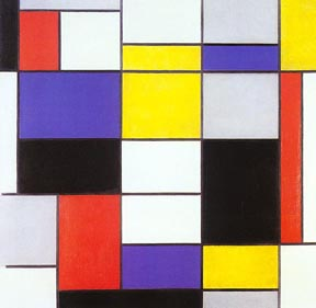 Painting by Piet Mondrian