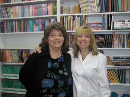 Suzanne Enoch and Teresa Medeiros at Romance World in El Cajon, CA on 8/3/08.