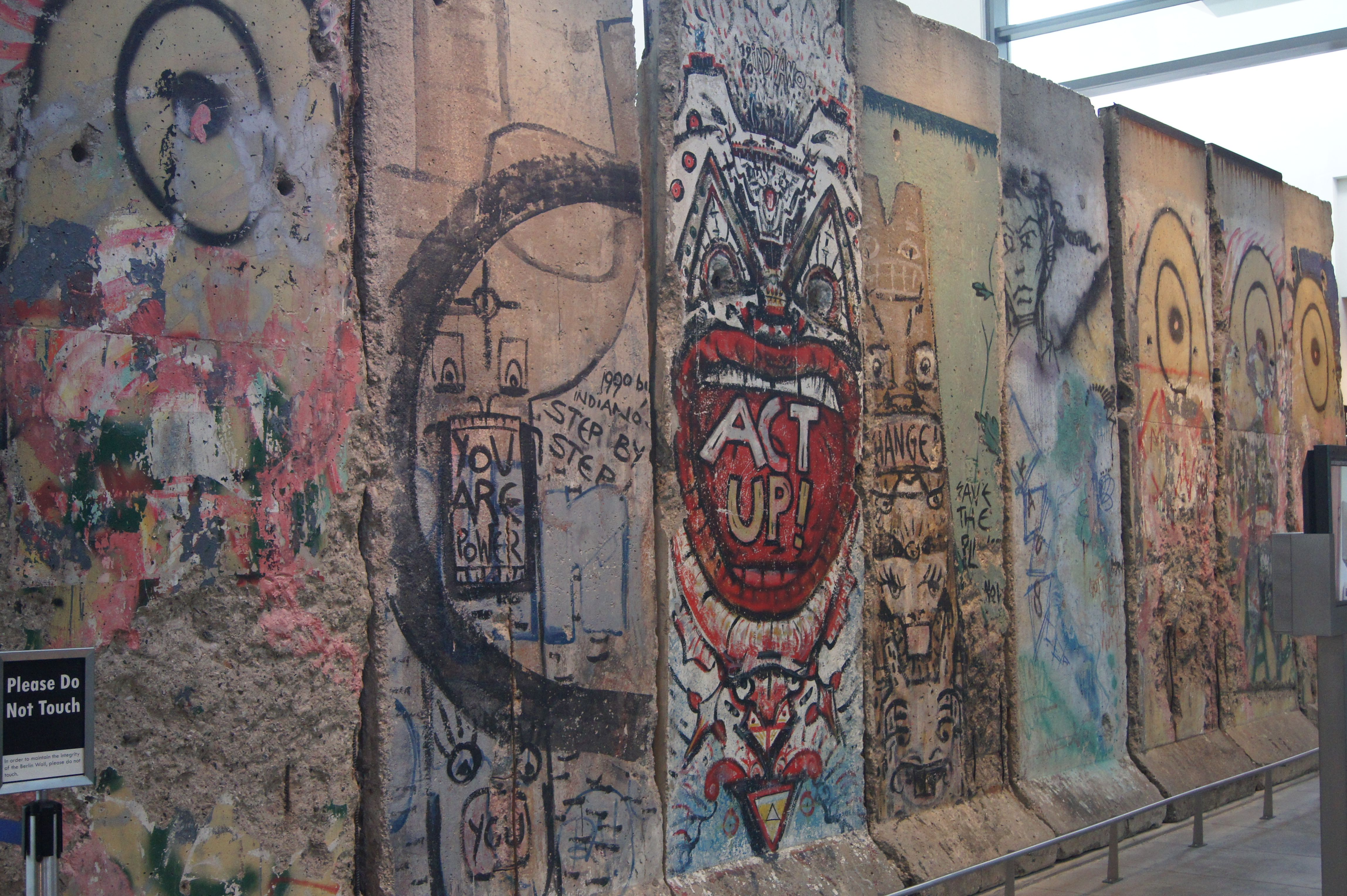 Writer's Block: Segement of Berlin Wall at the Newseum in D.C.