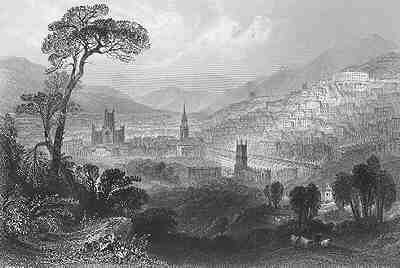 Bath seen in the distance, circa 1802