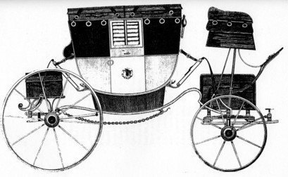 Regency Era Carriage: coach