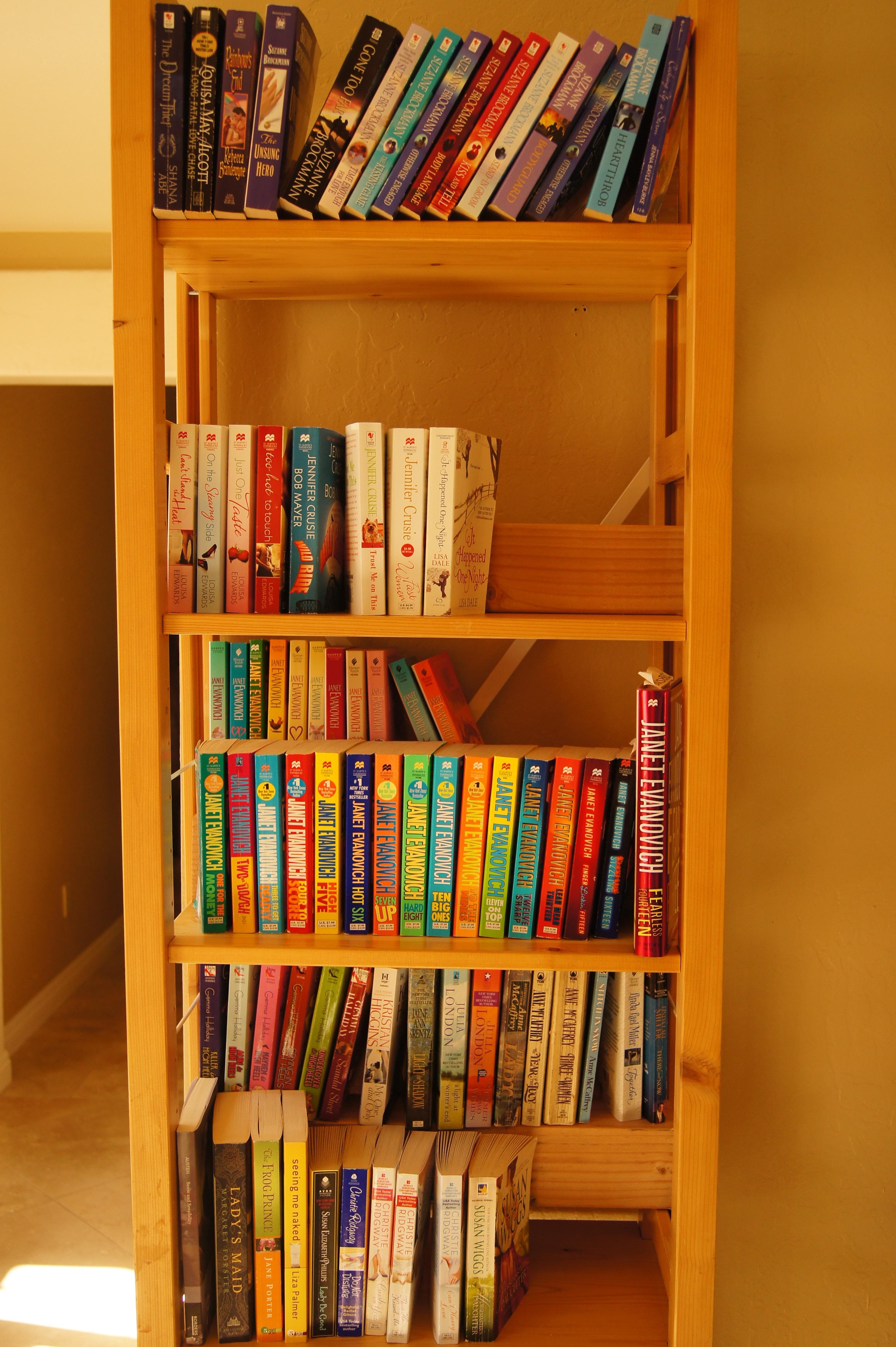 A photo of my Contemporary & Paranormal Shelf