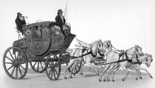Regency Era Carriage: mailcoach