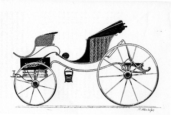 Regency Era Carriage: phaeton