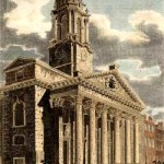 """St George's Church in Hanover Square, London."" Engraved by J. Le Keux. Published July 1st 1810"