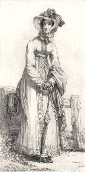 Regency Era Women's Fashion: Pelisse coat, October 1820, Ackermann's Repository