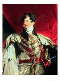 Regency Era Royal Family: Portrait of George, Prince of Wales, Prince Regent and later King George IV