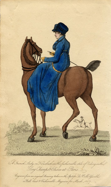 Regency Era Women's Fashion: Riding Habit