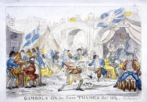 The Last Frost Fair: Gambols on the River Thames, Feby. 1814 by George Cruikshank