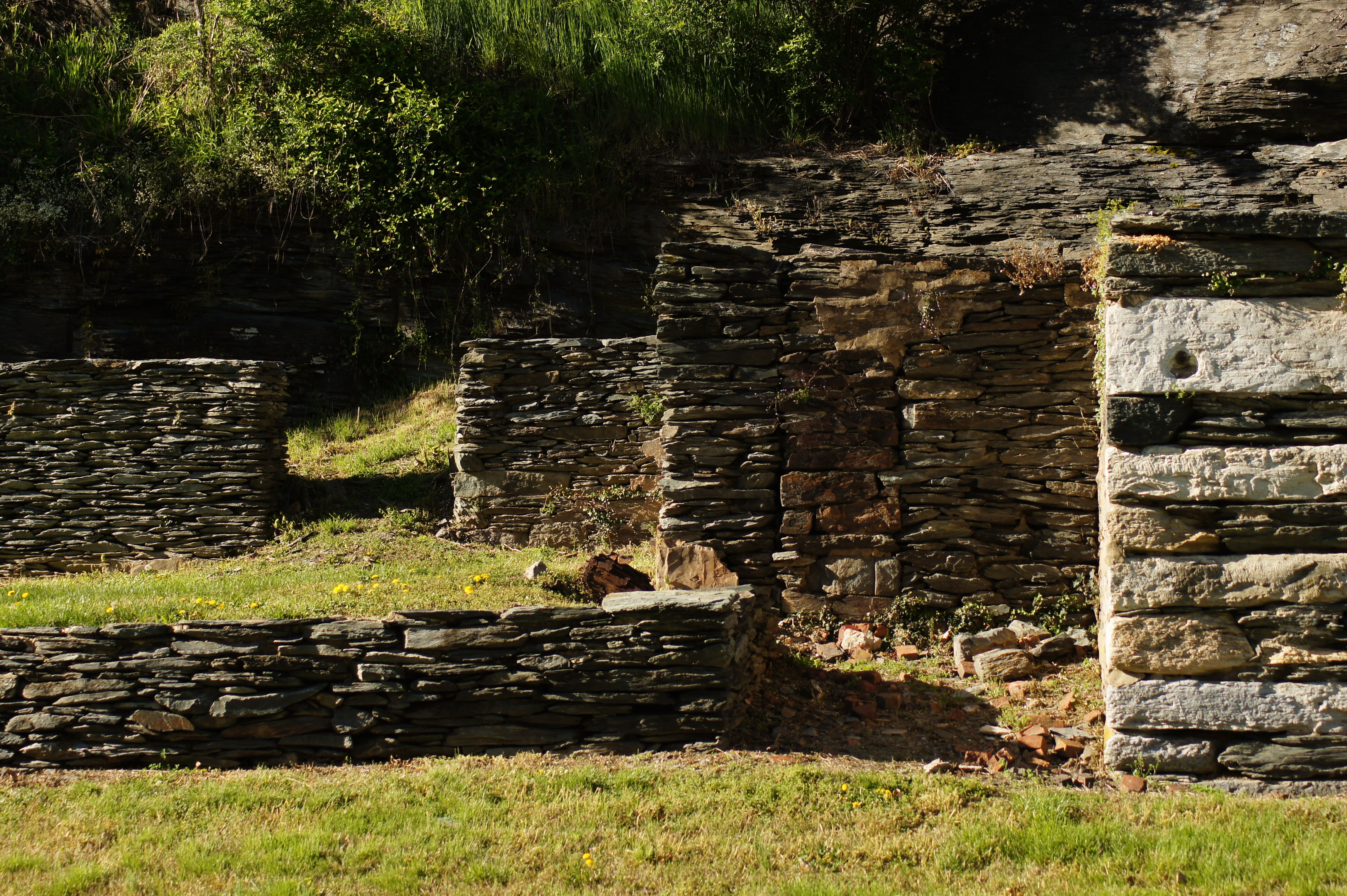 Photo of an old foundation at Harper's Ferry, WVa.