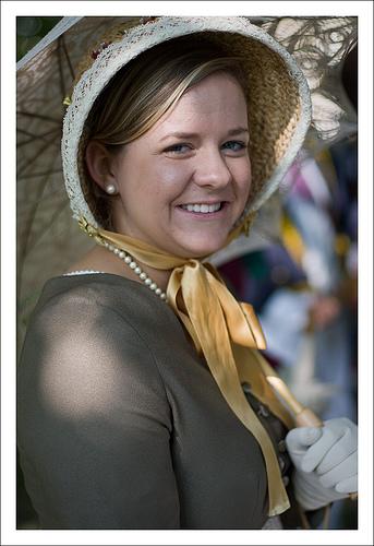 A photo of a Regency Lady.