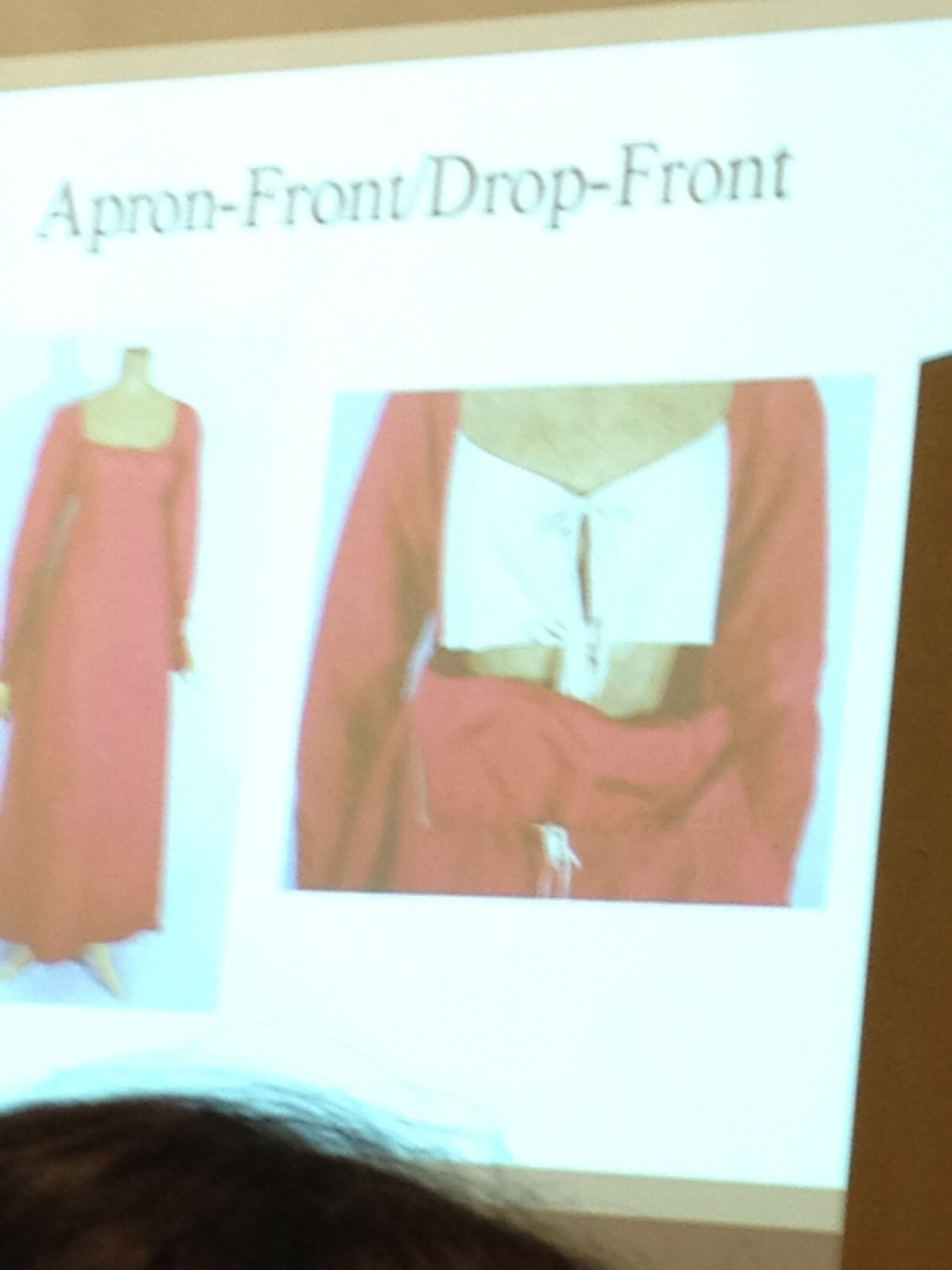 Image of Apron-Front gown before show & tell started =)