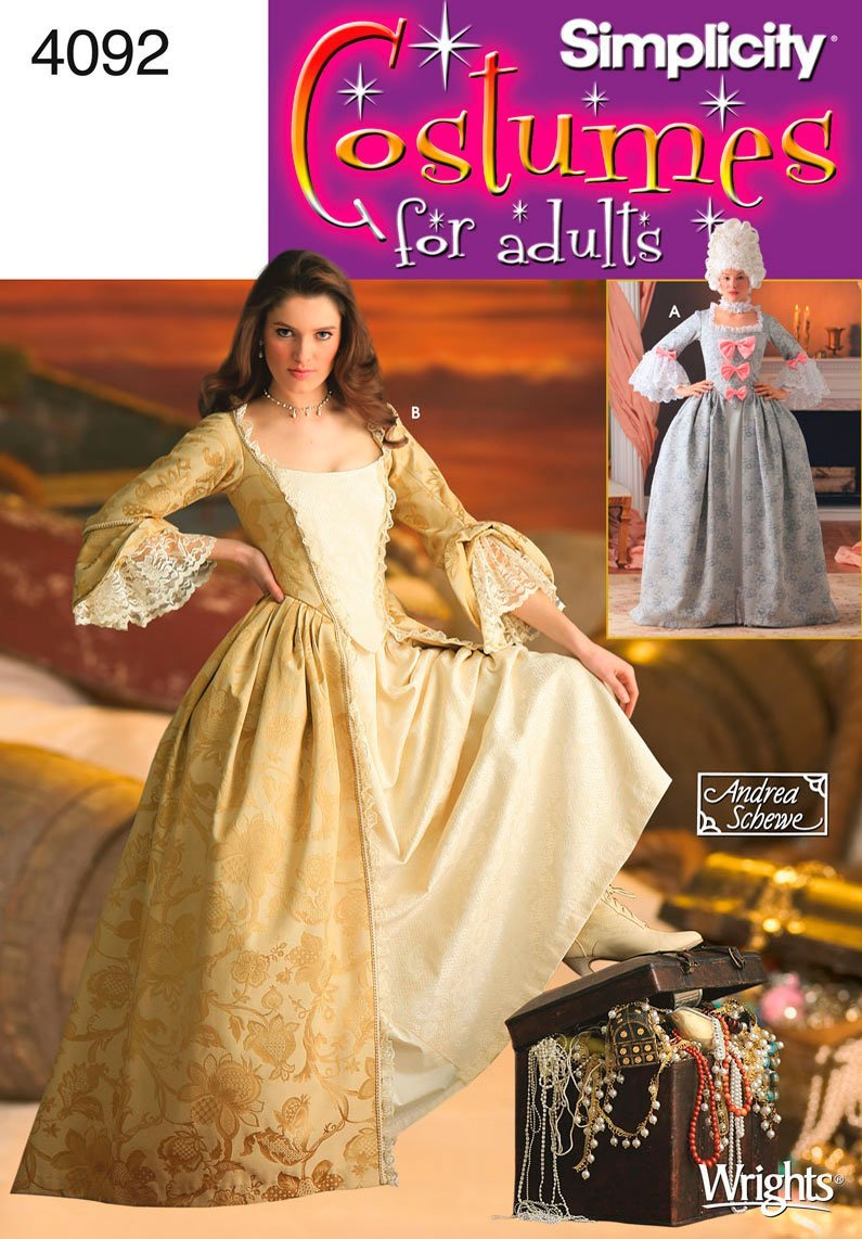 18th Century Gown (Simplicity 4092) for Eliza Hamilton for Anime Expo 2016